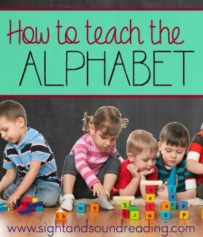 How to teach the alphabet- great thoughts from a kindergarten teacher.