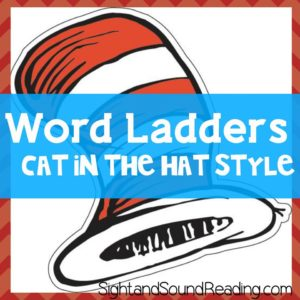 Cat in the Hat Word Ladder Style