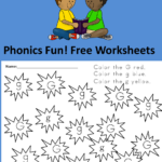Fun, free, phonics worksheets - trace and color letters and shapes