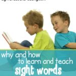 Why and How to teach the Sight Words. Explicit videos and worksheets to help teach reading !