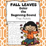 Fall Beginning Sound and Short A Phonics Worksheets -Color the Leaves based upon beginning sound!