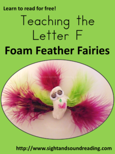 Making fairies - Teaching the letter F
