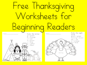 Free Thanksgiving Worksheet for Kids. Visit https://dev.sightandsoundreading.com fore more free worksheets.