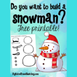 Do you want to build a snowman? Cute activity that will help your child with cutting and pasting skills.
