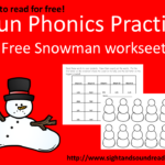 CVC Snowman worksheet: Great for Kindergarten or first grade. Visit https://dev.sightandsoundreading.com to get your free worksheet.