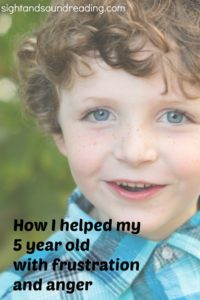 Preschool Behavior Managment: How I helped my five year old son with anger and frusration