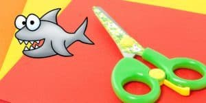 How to teach a child to hold a scissors - The friendly shark trick!