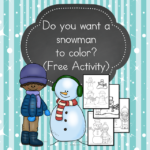 Snowman to Color -It's snowman time! We have all you need to build a snowman, and a snowman to color too!