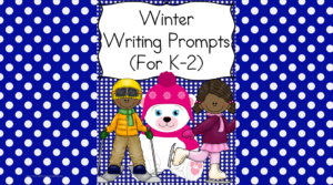 Winter Writing Prompts: Come get a list of Winter Writing Prompts and a free winter writing prompt -great for kindergarten through 2nd grade