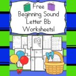 Free Beginning Sounds Letter B worksheets to help you teach the letter B and the sound it makes to preschool or kindergarten students.