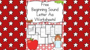 Beginning Sounds Letter A worksheets to help you teach the letter A!