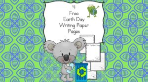 Free Earth Day Writing Paper for preschool, kindergarten and beyond. 4 different free pages for you to enjoy with your students to help make writing fun.