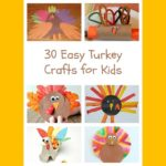 Turkey Craft for preschoolers, kindergartners and beyond! Easy, fun and cute Turkey crafts for kids!