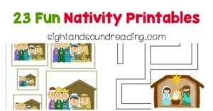 Here are some fun nativity printables to get children more engaged in their learning and to get them some Christmas engagement.