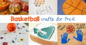 Today I would like to share some ideas of basketball crafts for Preschoolers. You can use the crafts for display, watching the basketball games companion, and just for fun.