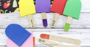 It is the time to learn about colors in the hotter temperature. Today I would like to share Color Matching Popsicles Craft to help kids learning more colors
