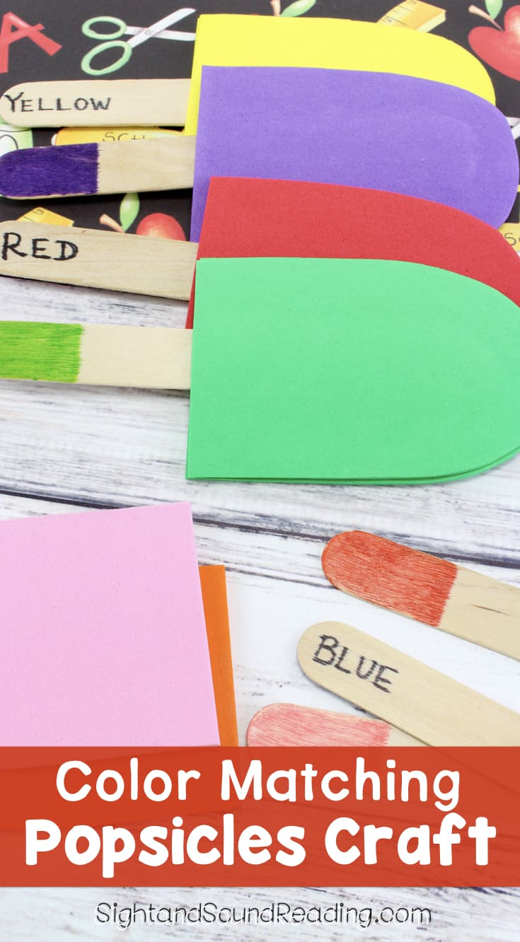 It is the time to learn about colors in the hotter temperature. Today I would like to shareColor Matching Popsicles Craft to help kids learning more colors