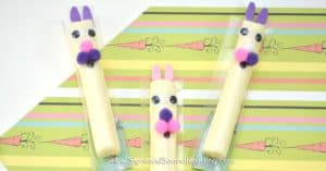 Easter is identical with bunnies and eggs. Today I would like to share Easter Bunny Cheese sticks for your little people's craft activities.