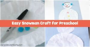 Kids will be happy with this Easy Snowman Craft for Preschool. Being simple, It is ideal for completing with preschool and kindergarten kids.