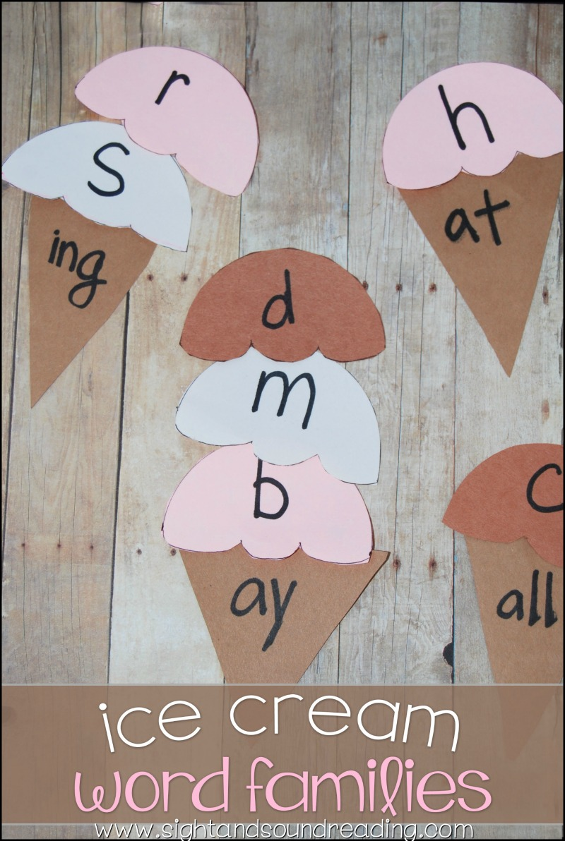 Summer is a perfect time for ice cream. It is great for kids to do Ice Cream Word Family Craft to help them in literacy, dealing with the word family.