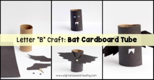 Kids will love making this bat cardboard tube bat that will go along perfectly with a letter of the week study on the letter B craft.