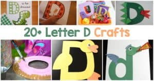 Letter D Crafts for preschool or kindergarten - Fun, easy and educational!