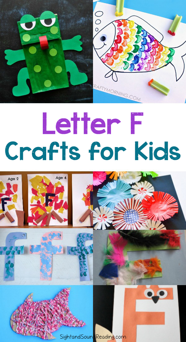 Letter F Crafts for preschool or kindergarten - Fun, easy and educational!