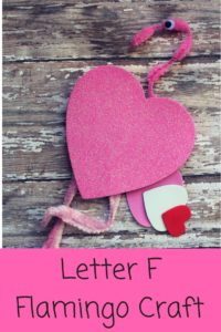 Easy to make Flamingo craft that kids will love to make. This flamingo is a great Letter F Craft, or fun Valentine's Day craft too!
