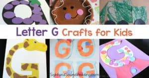 Letter G Crafts for preschool or kindergarten - Fun, easy and educational!