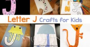 Letter J Crafts for preschool or kindergarten - Fun, easy and educational!