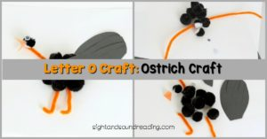 We are going to make an ostrich as one of our letter O craft. Ostrich craft is not common, but this ostrich craft might change your mind.