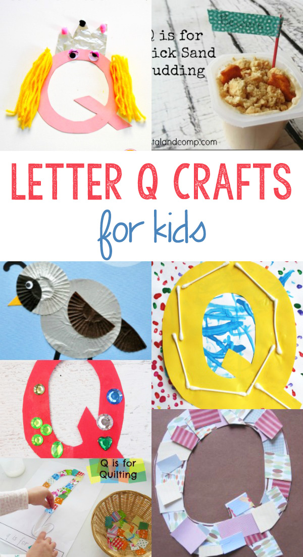 Letter Q Crafts for preschool or kindergarten - Fun, easy and educational!