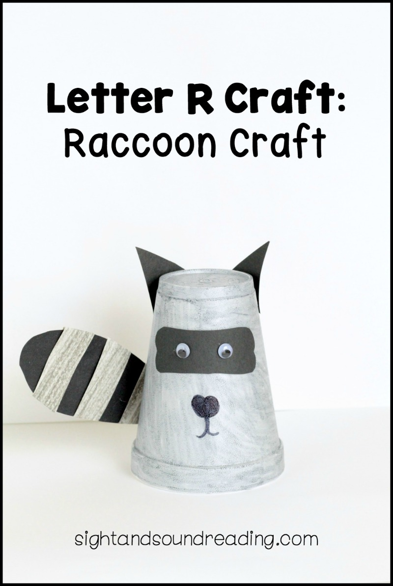 If you love raccoons, you'll love this R is for Raccoon craft. Use this Letter R craft when studying raccoons or other night creatures.