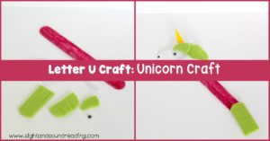 Most kids love unicorns for the magical horns. Help kids learn about the letter U and unicorns when making this Letter U craft.