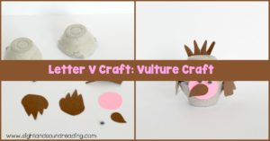 Make this fun Letter V craft when you're studying the letter V or when you just want to have a craft to make during the study of birds.