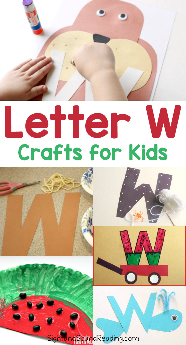 Letter W Crafts for preschool or kindergarten - Fun, easy and educational!