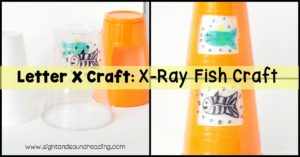 The X-ray fish is a fish that has a visible skeleton. This fish is a fun mascot for the letter X craft. Kids can make this X-ray fish easily.