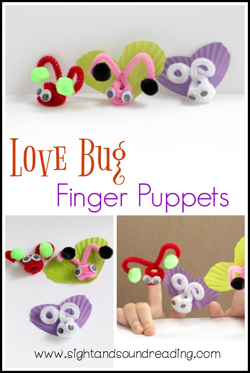These love bug finger puppets do just that! You'll love that the puppets are easy to make, require few supplies, and don't take a lot of time to craft.