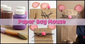 This is perfect for little ones getting into crafting. Transform paper lunch bags into talking, interactive paper bag mouse puppet craft.