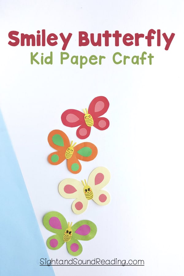 Today I am going to share a cute smiley butterfly kid paper craft to display in your rooms. Let everyone watch them around and not to wait going outdoors.