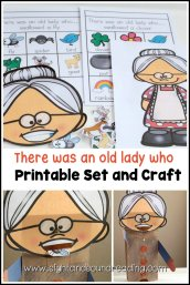 In this There was an old lady who craft, kids can make their very own old lady who can swallow a variety of things!