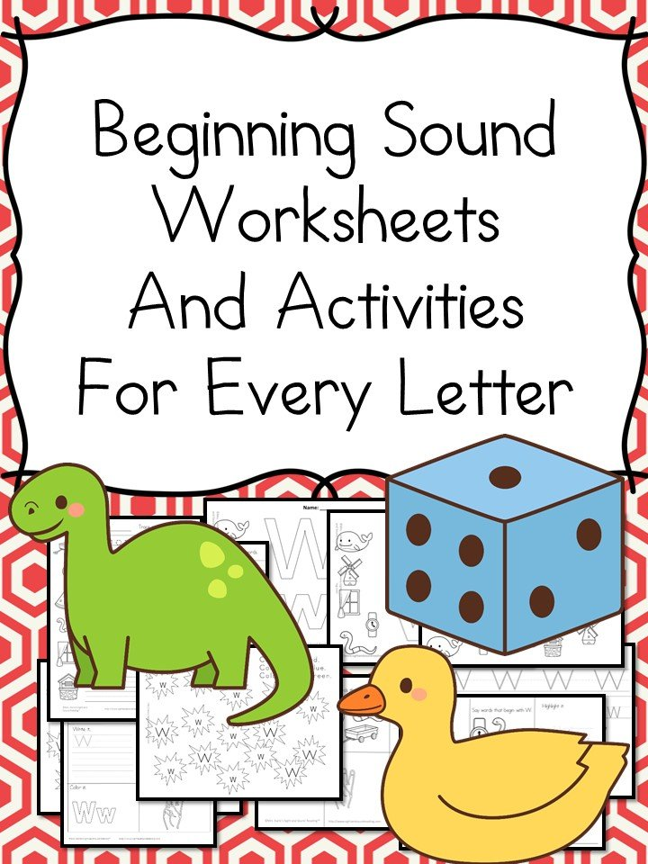 Beginning Sound Worksheets and ACtivities For Every Letter