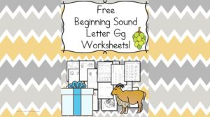 Free Beginning Sounds Letter G worksheets to help you teach the letter G and the sound it makes to preschool or kindergarten students.