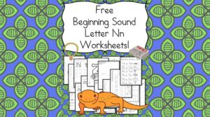 Free Beginning Sounds Letter N worksheets to help you teach the letter N and the sound it makes to preschool or kindergarten students.