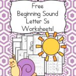 Free Beginning Sounds Letter S worksheets to help you teach the letter S and the sound it makes to preschool or kindergarten students.