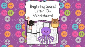 Free Beginning Sounds Letter O worksheets to help you teach the letter O and the sound it makes to preschool or kindergarten students.