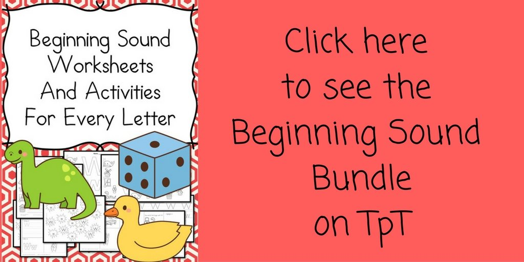 Beginning Sounds Bundle on Tpt