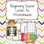 Free Beginning Sounds Letter X worksheets to help you teach the letter X and the sound it makes to preschool or kindergarten students.