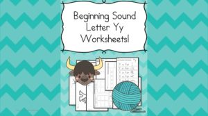 Free Beginning Sounds Letter Y worksheets to help you teach the letter Y and the sound it makes to preschool or kindergarten students.