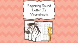Free Beginning Sounds Letter Z worksheets to help you teach the letter Z and the sound it makes to preschool or kindergarten students.